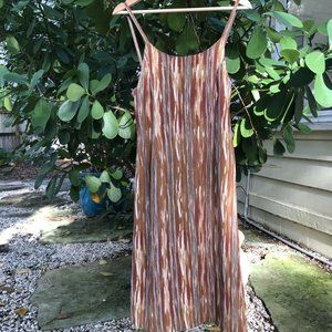 Vintage French Connection Brown Tank Dress S Rayon